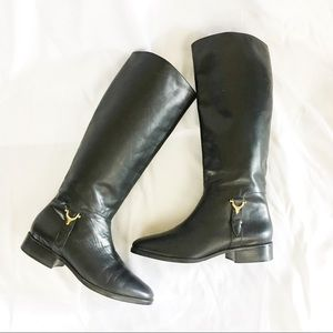Etienne Aigner Genuine Leather Derby Boots